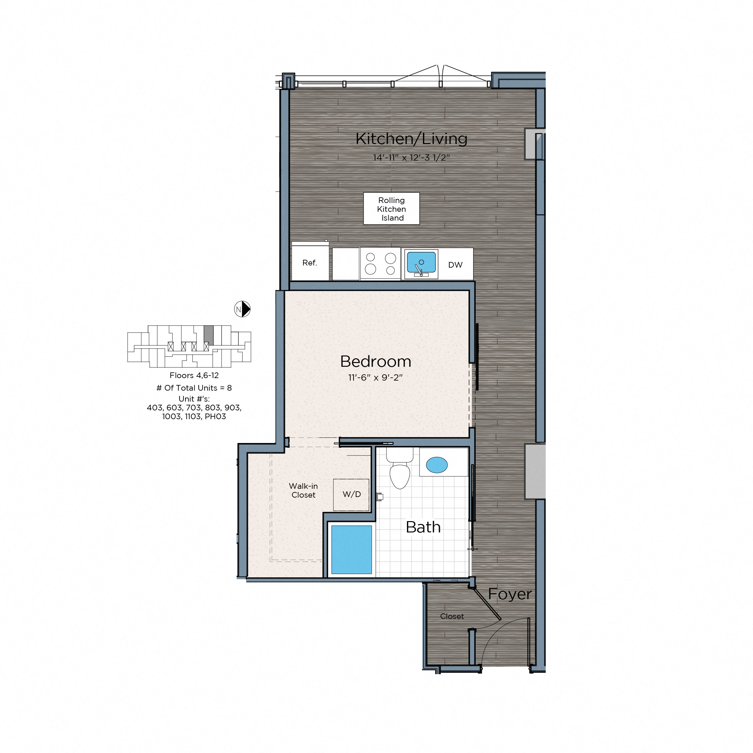Availability. Studio  One    Two Bed SW D C  Apartments   Lex at Waterfront Station