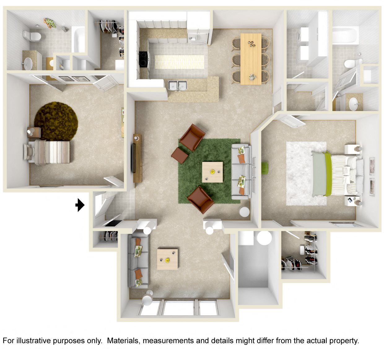 2 Bedroom Sunroom Floor Plan 3