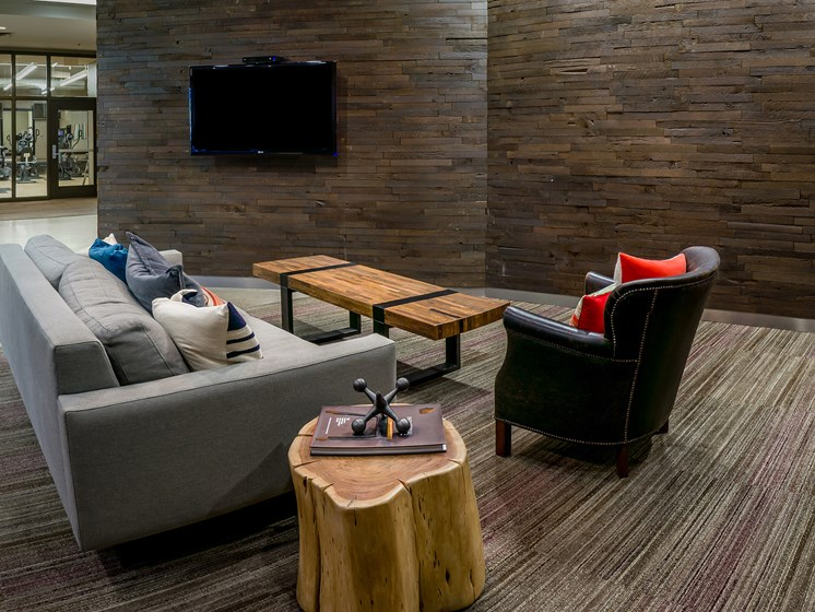 Seating area in clubhouse