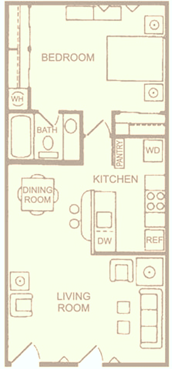 D - One Bedroom One Bath