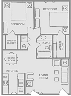Floorplan E - 2x1