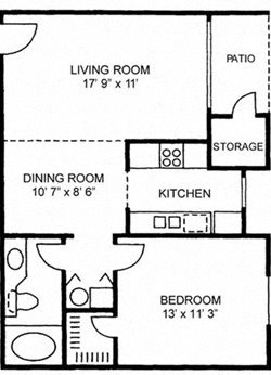 One Bedroom One Bath - Large