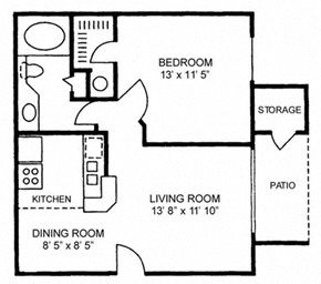 One Bedroom One Bath - Medium