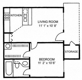 One Bedroom One Bath - Small
