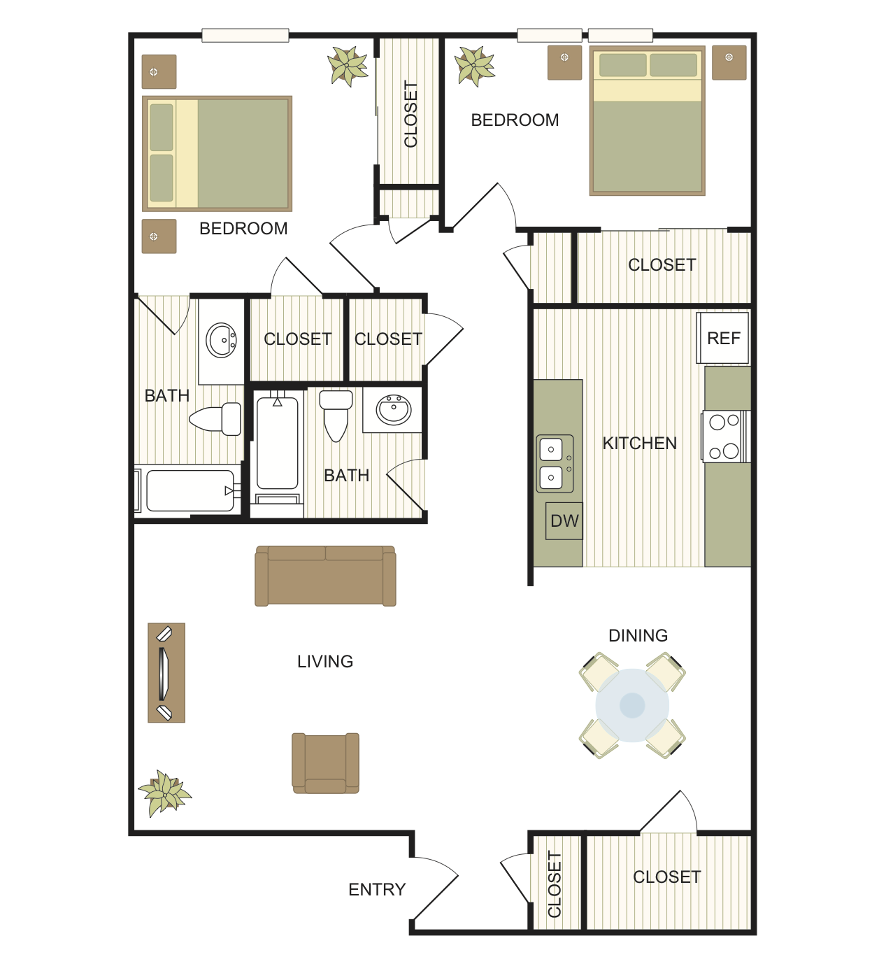 Floor Plans Of RiverStone Apartment Homes In New Braunfels, TX
