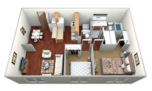 Two Bedroom/One Bath