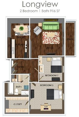 Longview Floor Plan 1
