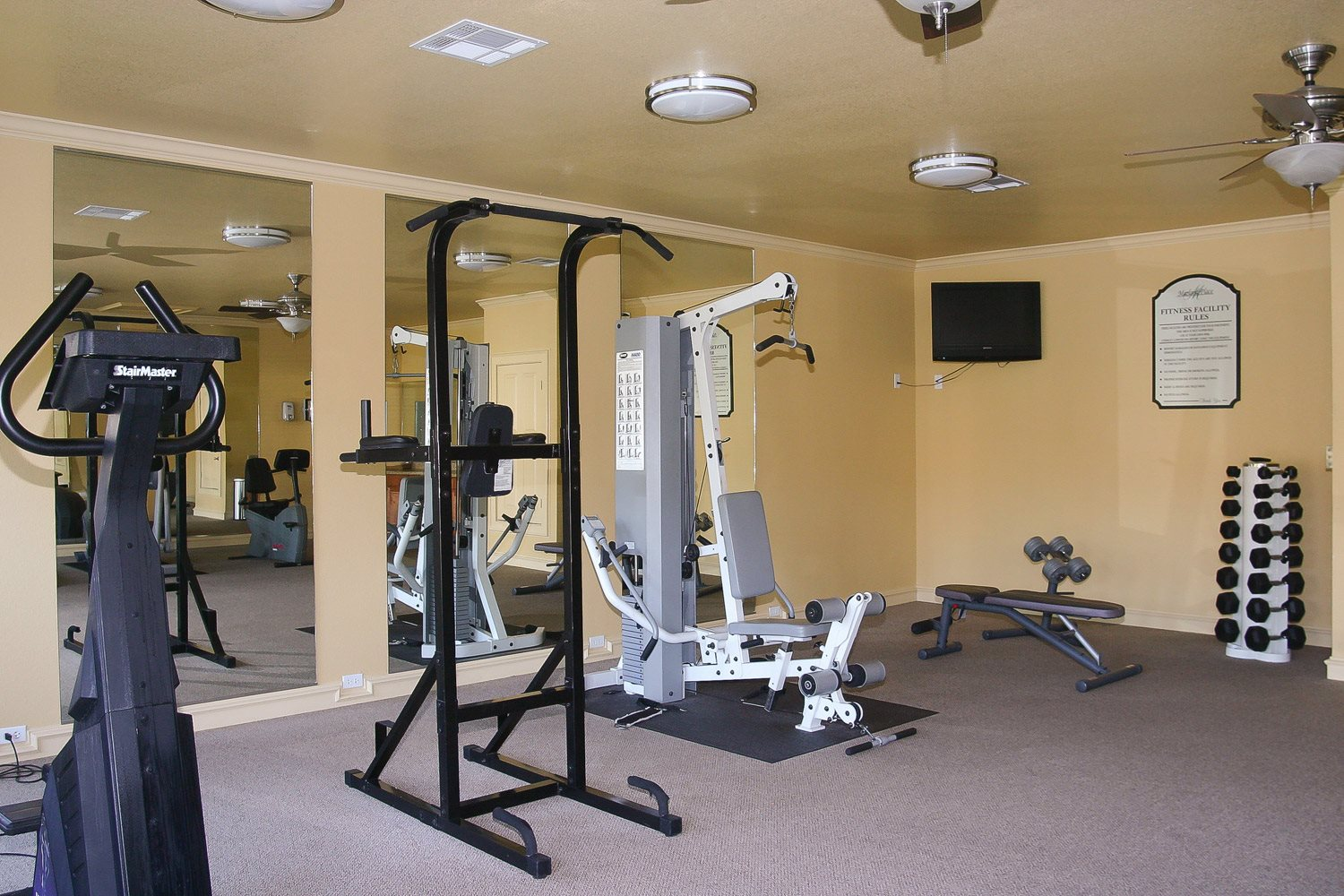 Fitness Center Property Photo at Marland Place Apartments in Temple , TX  76502