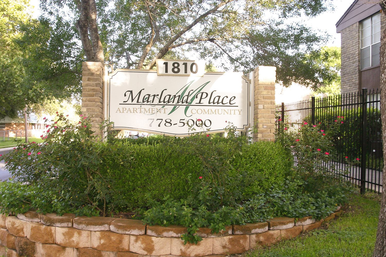 Property Sign Photo at Marland Place Apartments in Temple , TX  76502