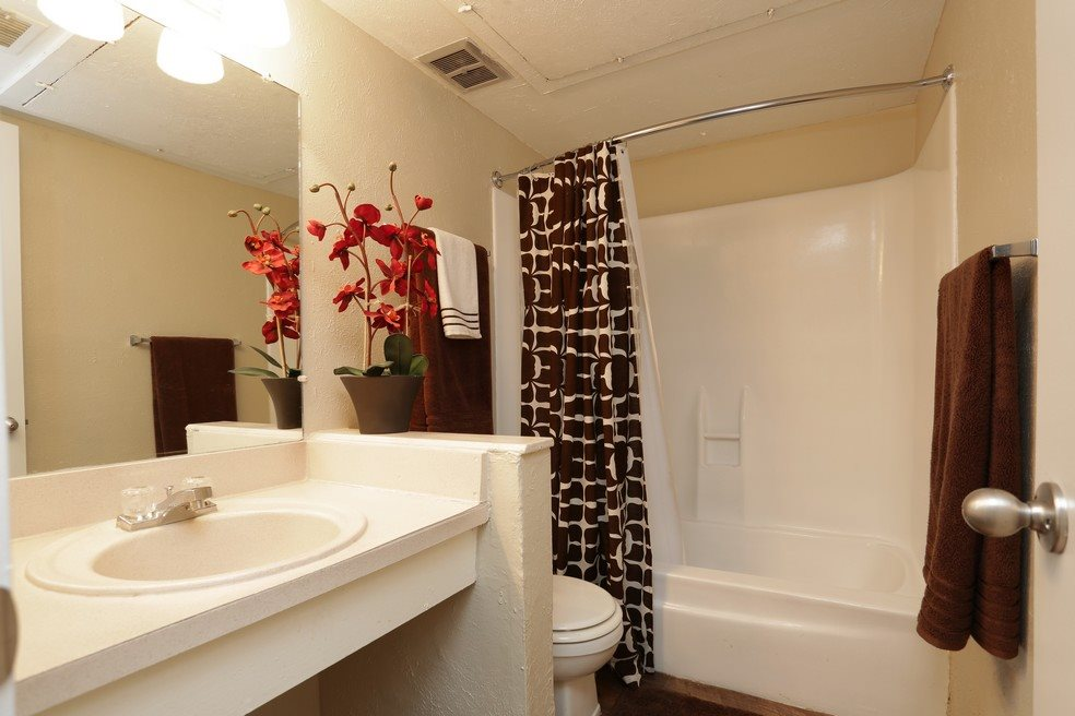Bathroom at Mountain View at Southgate Apartments in El Paso, TX 79925