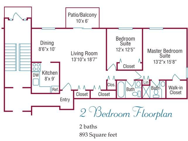 2 Bedroom Floorplan Floor Plan 2