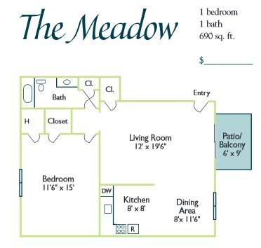 The Meadow Floor Plan 1