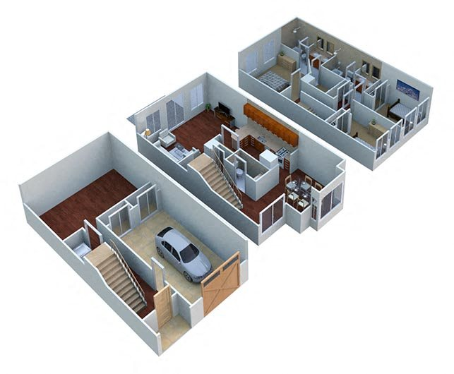 Cherrywood-Townhome Floor Plan 2