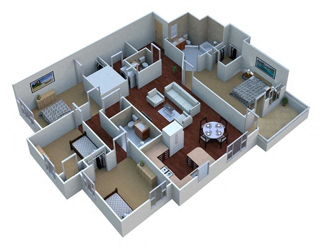 Sequoia - Apt Floor Plan 3