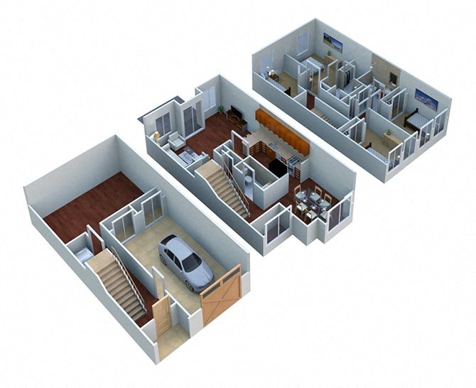 Walnut - Townhome Floor Plan 4