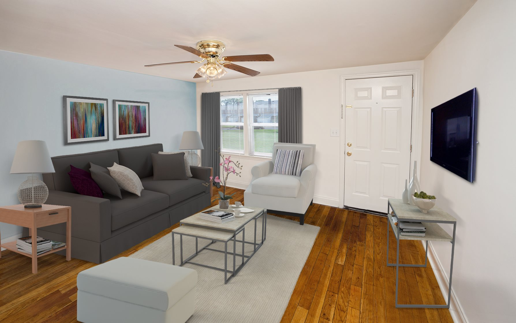 Spacious Living Rooms at Day Village Townhomes, Dundalk, MD,21222