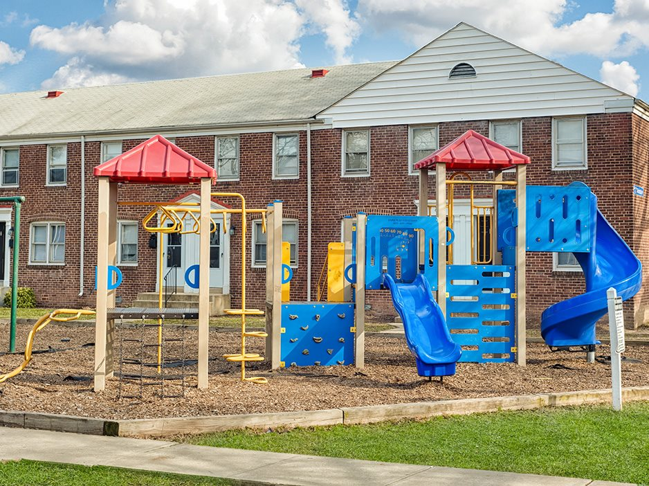 Children's playing area at Day Village Townhomes, Dundalk, MD,21222