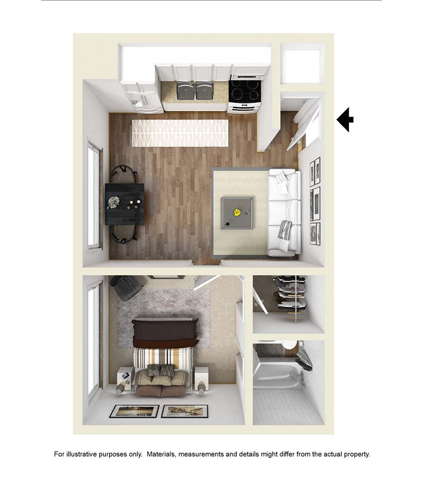 The Graduate Floor Plan 1