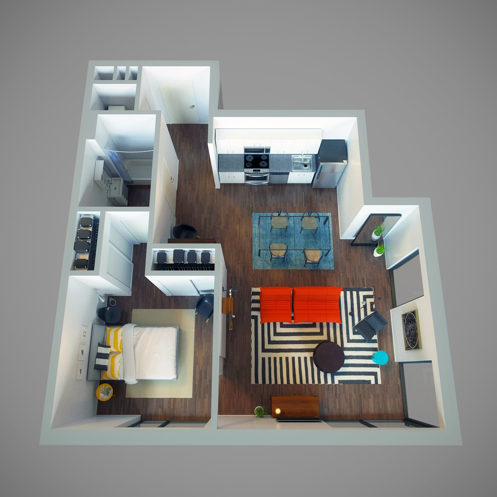 1 Bed - Sidestreet Floor Plan 4