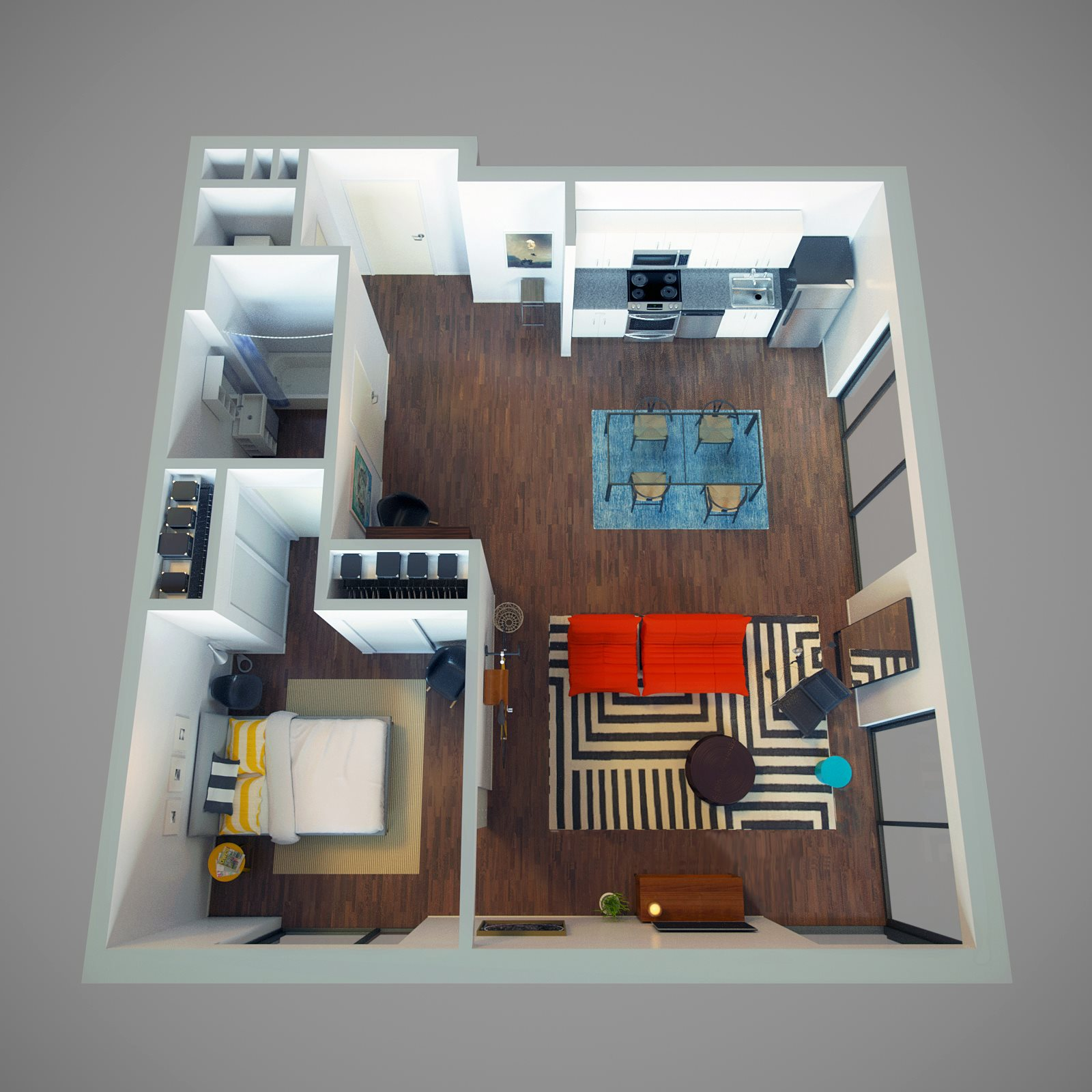 1 Bed - Sidestreet (plus) Floor Plan 5