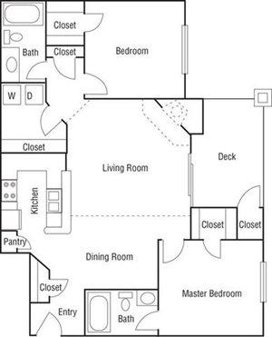 2 Bed 2 Bath-B2