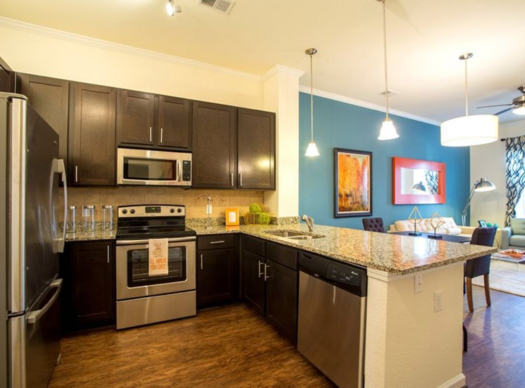 one bedroom model - furnished kitchen Town Center at Lake Carolina Apartments, Columbia, SC 29229
