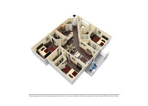 Three Bedroom Floorplan Holly  Town Center at Lake Carolina, Columbia, SC 29229