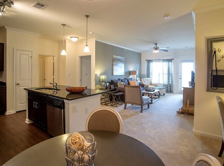 Living Rooms With Open Floor Plans at Town Center at Lake Carolina Apartments, Columbia, SC 29229