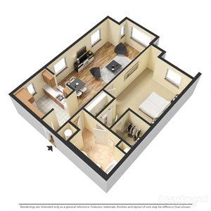 Cepage Floor Plan at Chez Elan Fine Apartment Homes in Fort Walton Beach, Florida, FL