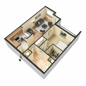Syrah Floor Plan at Chez Elan Fine Apartment Homes in Fort Walton Beach, Florida, FL