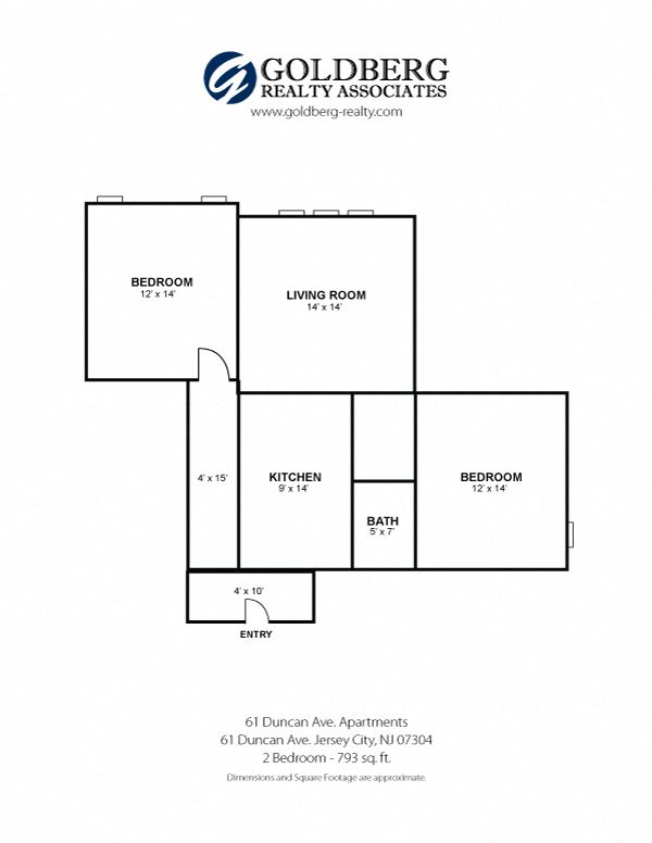 61 Duncan Apartments - Two Bedroom