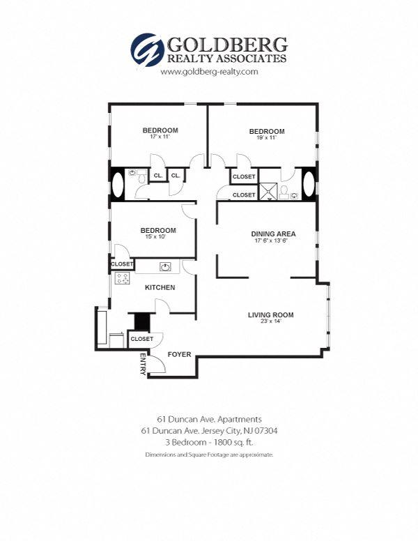 61 Duncan Apartments - Three Bedroom