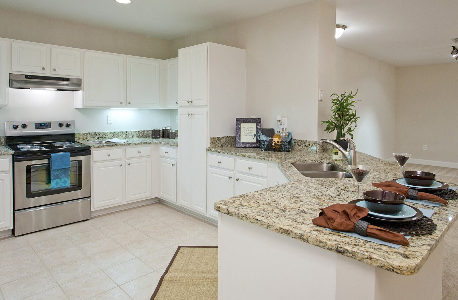 Gourmet Kitchen With Breakfast Bar And Pantry At Windsor Midtown 222 14th Street NE