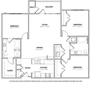 Floorplan at Windsor at Glenridge, 305 5610 Glenridge Drive,Sandy Springs, 30342