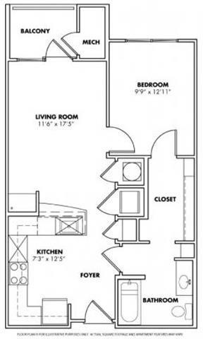 Floorplan at Windsor at Glenridge, 305 5610 Glenridge Drive, GA