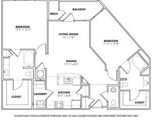 Floorplan at Windsor at Glenridge, GA 30342