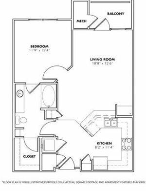 Floorplan at Windsor at Glenridge, 305 5610 Glenridge Drive,Sandy Springs