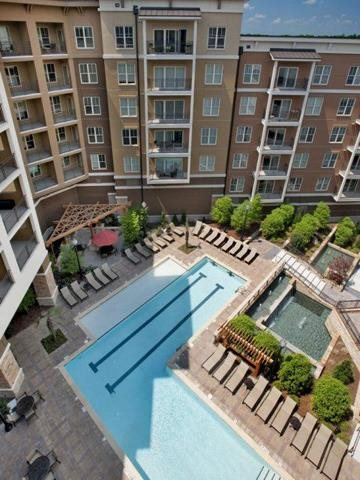 Unwind in our unique saltwater pool complete with lap lanes, at Windsor at Brookhaven, 305 Brookhaven Ave., Atlanta