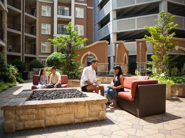 Relax or gather with friends by the fire pit, at Windsor at Brookhaven, 305 Brookhaven Ave., Atlanta, GA