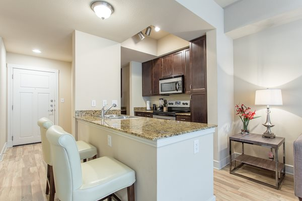 Gourmet Kitchen with Breakfast Bar and Pantry at Windsor on the Lake, Austin, TX