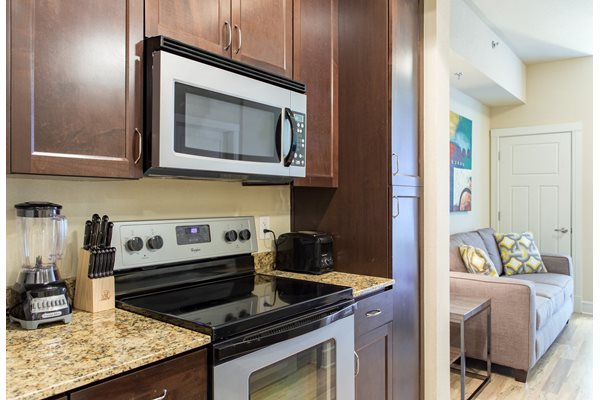 Fully equipped kitchen at Windsor on the Lake, TX 78701