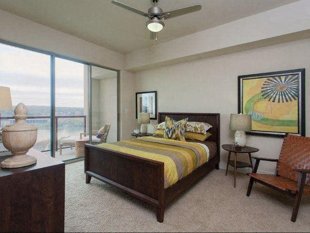 Bedrooms will accommodate a king size bed. at Windsor on the Lake, Austin, 78701