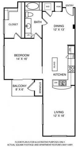 Floorplan at Windsor on the Lake, 43 Rainey Street, Austin, TX 78701