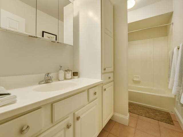 All floorplans include great bathroom storage space.