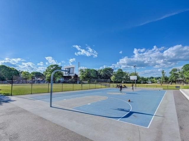 Tennis courts, basketball courts, open fields and neighborhood playgrounds all..