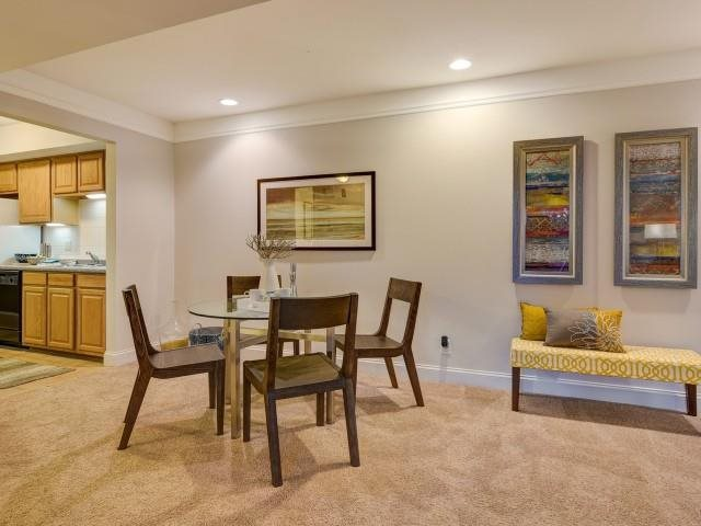 The Dartmouth floorplan allows for flexible dining/entertaining space