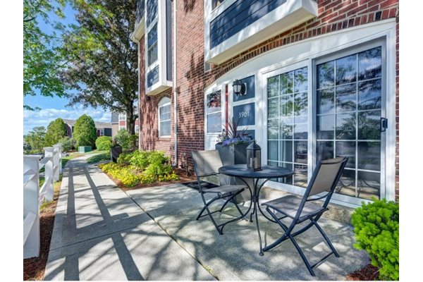 Private Patios at Windsor Village at Waltham, 976 Lexington Street, Waltham, MA 02452
