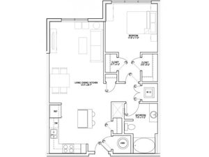 Floorplan at Vox on Two, 223 Concord Turnpike, Cambridge, MA 2140