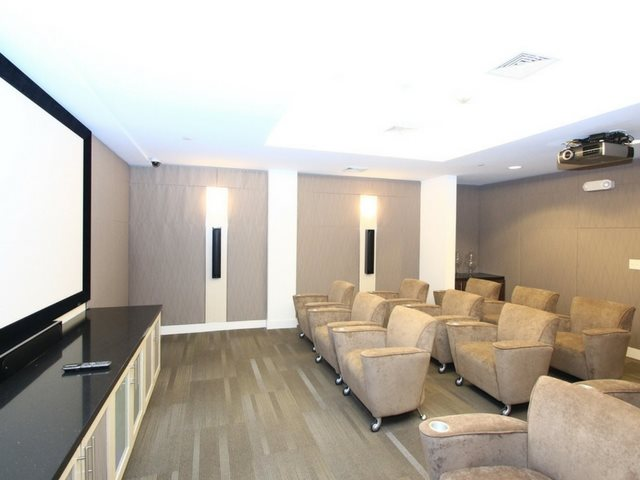 Theater Room with HDTV and seating for 15