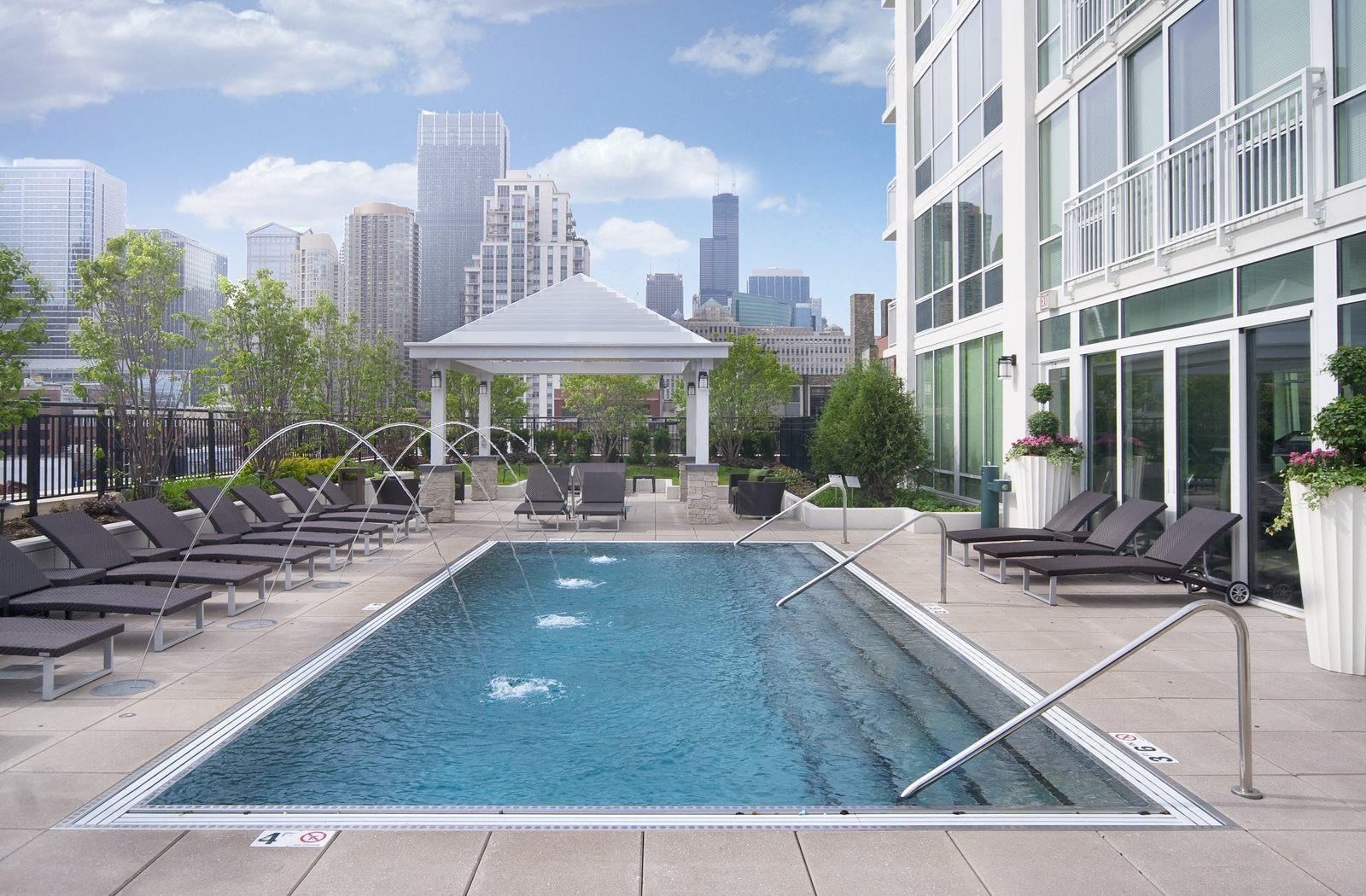 Resort-Style Pool at Flair Tower, Chicago, IL, 60654 has Resort-Style Pool